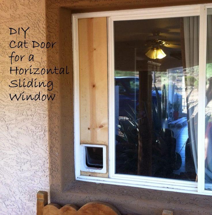 Downtoearth diy cat door horizontal sliding window