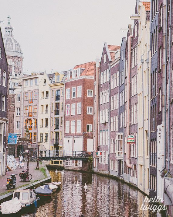 Amsterdam Photography, Travel Photography, Architecture, European Photography, Typical Dutch Houses, Street, Home Decor- Boats