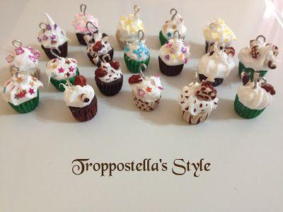 Ciondoli Cupcake in fimo Troppostella's Style