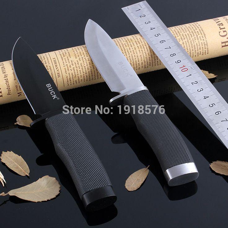 DOXA 뜨거운 벅 009 고정 블레이드 나이프 스테인레스 스틸 420 상당 56HRC 경도 사냥 칼 야외 생존 칼