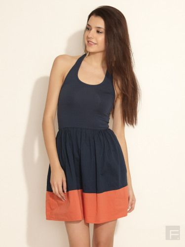 Flared Colour Block Dress | French Connection