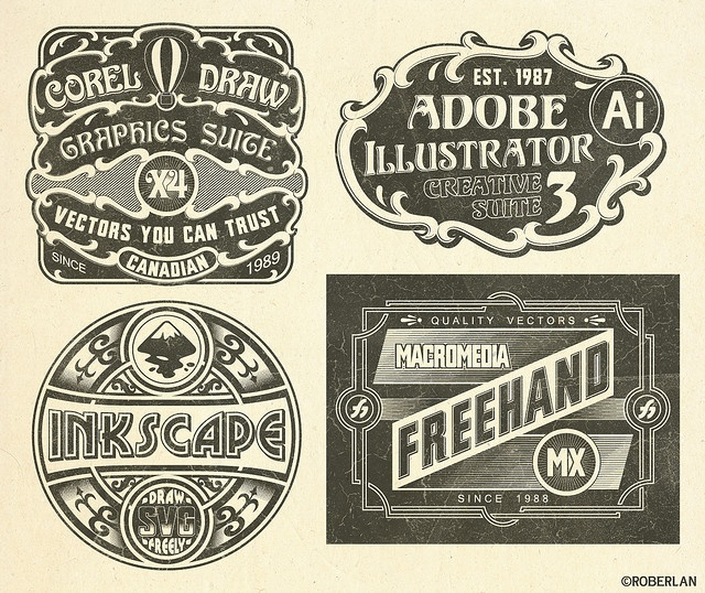 vintage vector logos: Vintage Software, Vector Logos, Graphics Software, Vintage Graphic, Logos Design, Graphics Design, Software Logos, Vintage Vector, Vintage Logos