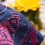 Free range denim patches to embroider from birdiebrown.co.nz