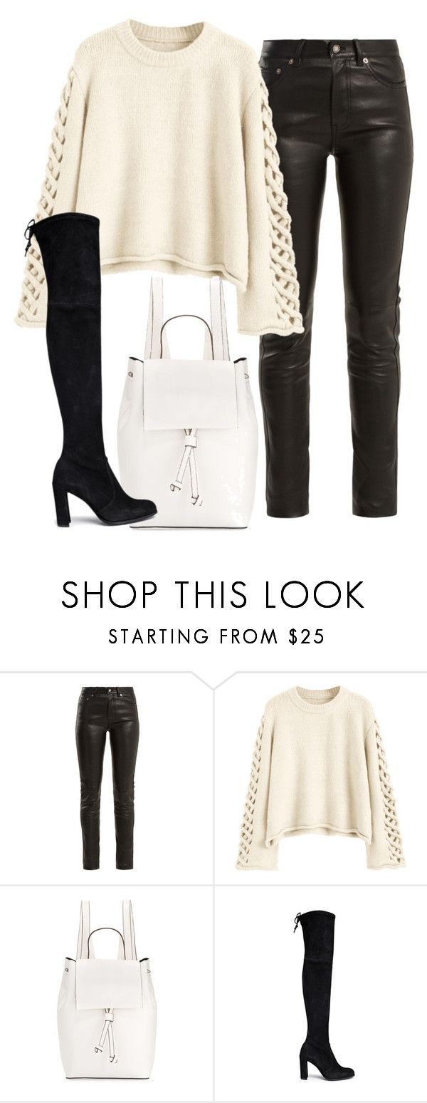 """Untitled #344"" by slythergirl ❤ liked on Polyvore featuring Yves Saint Laurent, French Connection and Stuart Weitzman"