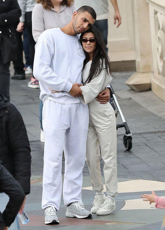 Kourtney Kardashian and Younes Bendjima Coordinate at Disneyland   InStyle.com
