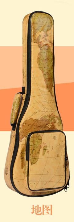 """Portable 21""""23""""26 inch tenor concert soprano ukulele small acoustic guitar bag case package Lanikai Luna painted gig soft cover"""