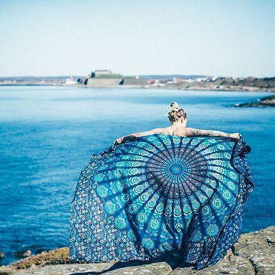 Indisch Mandala Tagesdecke Wandteppich Tapisserie Strand Handtuch Yoga Matte Neu