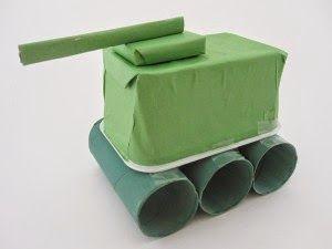 ESPAÇO EDUCAR: Atividade para o dia do soldado: tanque de guerra feito com sucata!