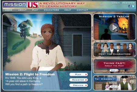 flight to freedom online game - Underground Railroad and Civil War activity