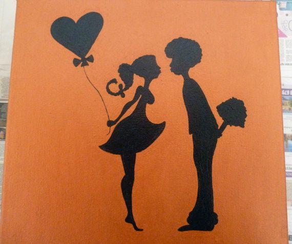 First Kiss 12 x 12  True Love Young Love Sweet by NIYAworld