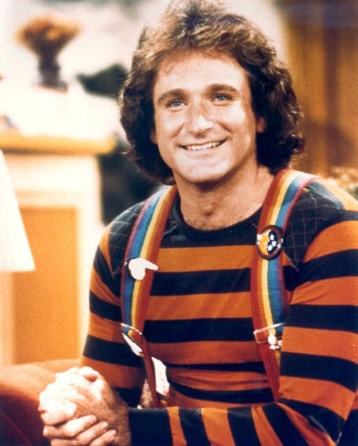 Robin Williams Young   Robin Williams mork and mindy