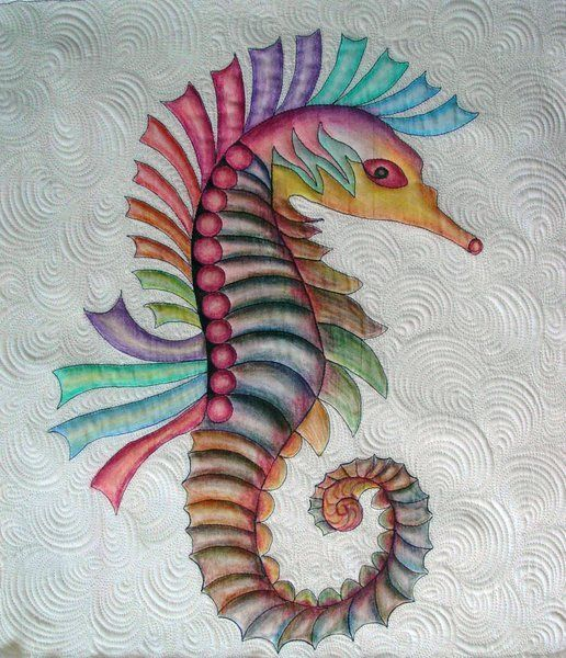 1000 images about seahorse 39 s on pinterest baby for Fish fabric for quilting