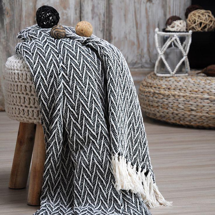 Jeté de canapé (150 cm) Sioux Noir : choisissez parmi tous nos produits Jeté de canapé