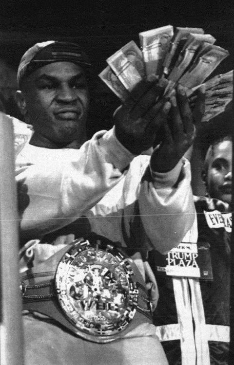 Mike Tyson with the WBC World Heavyweight Title