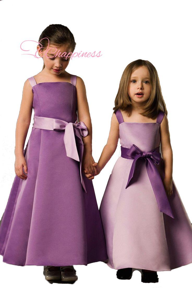 Стиль трапециевидный глубокий круглый до щиколотки - длина бант цветок девочки платья маленькие девочки девочка ну вечеринку платье для свадьба