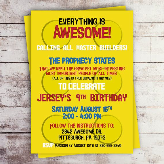 The 25 best Lego birthday invitations ideas – Lego Party Invitations Printable
