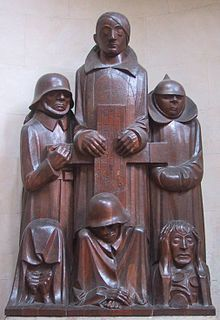 """Das Magdeburger Ehrenmal (the Magdeburg cenotaph), by Ernst Barlach was declared to be degenerate art due to the """"deformity"""" and emaciation of the figures—corresponding to Nordau's theorized connection between """"mental and physical degeneration."""" Entartete Kunst"""