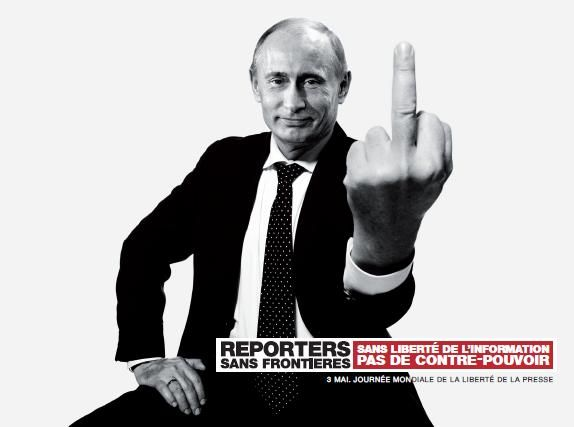 #advertising | Reporters Sans Frontières / Reporters Without Borders - Vladimir Poutine #Putin