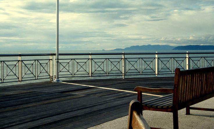 Vista sul mare dal pontile di Tonfano (Marina di Pietrasanta)