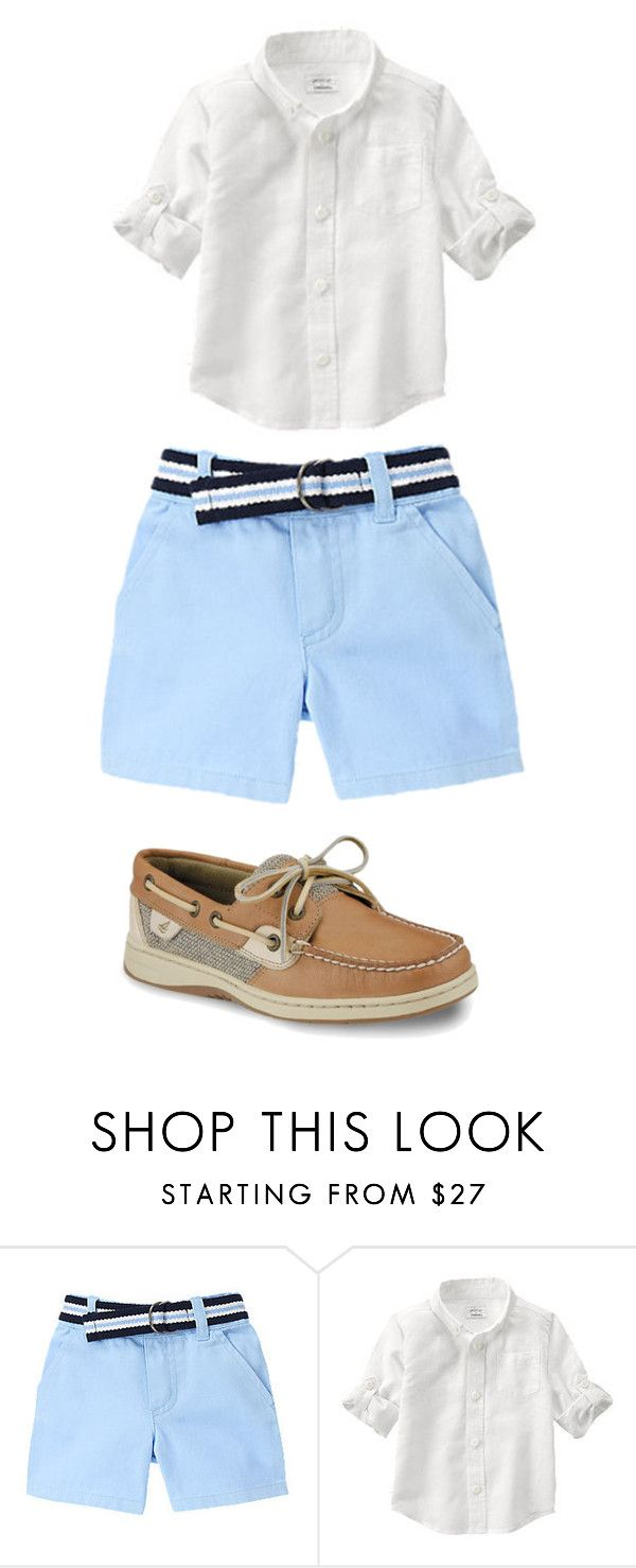 """""""little boys outfit"""" by preppista on Polyvore featuring Sperry, men's fashion and menswear"""