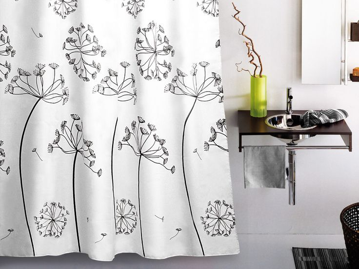 WESS Aneth - занавеска для ванной комнаты из ткани 180x200 см. Цена 735р. Посмотреть на сайте: http://likemyhome.ru/catalog/shtorki-karnizy-kolca/00003762 #likemyhome #showercurtain #bathroomdecor #interiorstyle #wess #aneth