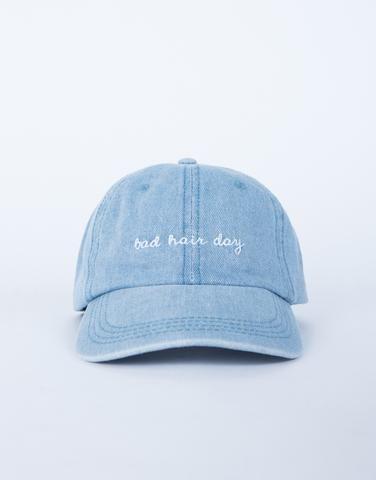 Denim Bad Hair Day Cap