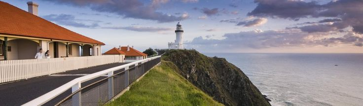 Byron Bay Lighthouse and cottages