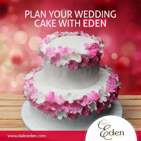 If you are about to get married and planning a cake, Eden is the Place. #Wedding #Cakes