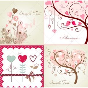 Valentine trees and hearts vector pack - consists of love cards and greetings with abstract heart trees and heart flowers for the most wonderful Valentine´s day.  http://www.123creative.com/holidays-vectors/822-valentine-trees-and-hearts-vectors.html