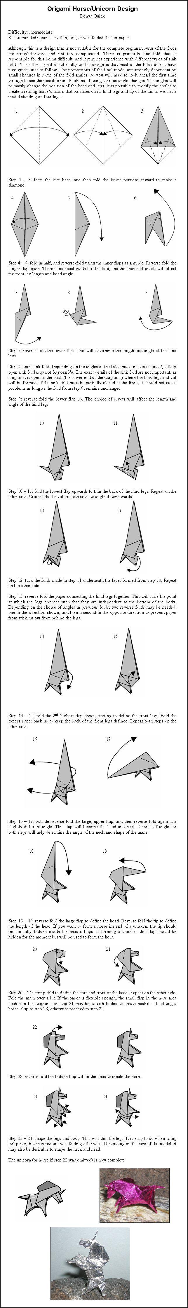 origami unicorn blade runner instructions