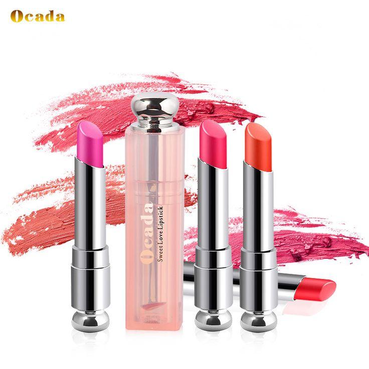 Le Plus Populaire Ocada Marque Rouge À Lèvres Maquillage Beauté Batom Dames Cadeau Cosmétique Pour Femmes Rose Bébé Lèvres Mat Baume Étanche