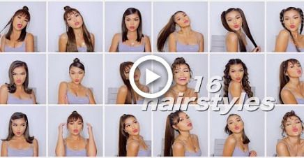 #Easy #Easy Hairstyles straight #Hairstyles #Quick #simple 16 SIMPLE QUICK & EAS…