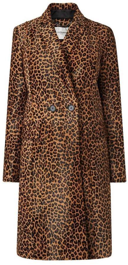 Dia Animal Leather Coat