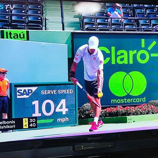 Pinを追加しました!/#miamiopen 4回戦 錦織圭選手の後ろに弊社ロゴ! 胸熱過ぎる! #keinishikori #GO錦織 #tennis #tennistv #wilson #nike #uniqlo #sap #burn95cv