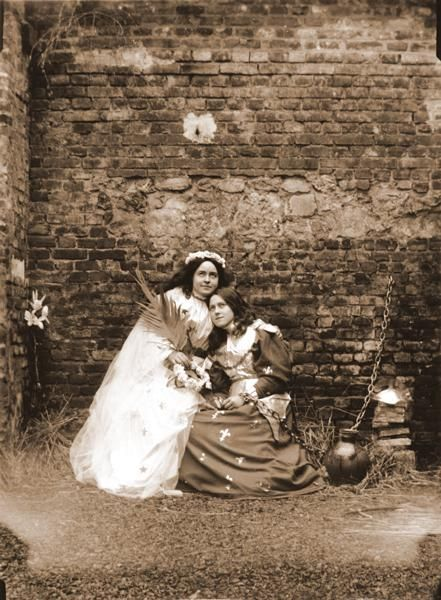 Saint Therese as Joan of Arc with Celine as St. Catherine.