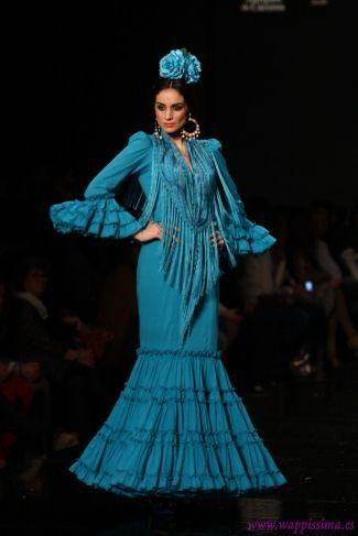 Traje de Flamenca - Pilar-Vera - SIMOF-2013        Me encanta el color