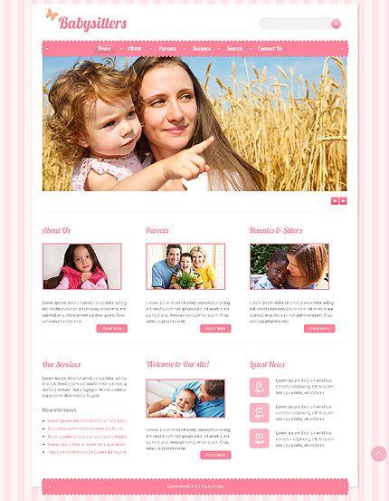 Babysitter Website Template #children #baby #javascript #html http://www.templatemonster.com/website-templates/41266.html?utm_source=pinterest&utm_medium=timeline&utm_campaign=baby