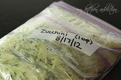 How to freeze shredded zucchini