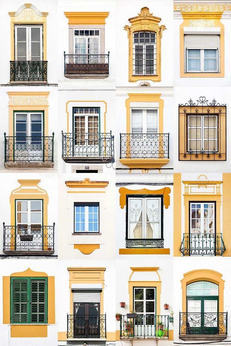 Ventanas, Évora, Portugal.                                                                                                                                                                                 Más