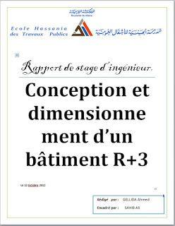 Conception et dimensionnement d'un bâtiment R+3 - rapport de stage ingénieur