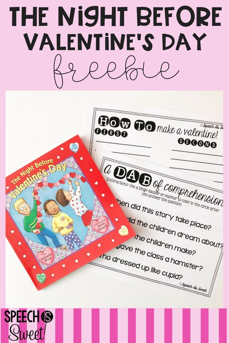 0e74ec4b5929edbf82a50406037ec539 - Freebie for The Night Before Valentine's Day! This is a wonderful book for V...