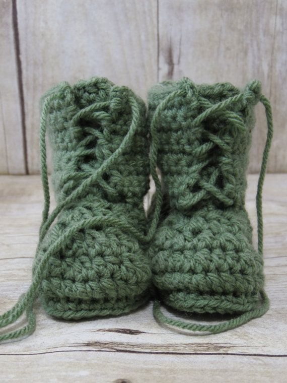 Crochet Baby Air Force Boots/Booties  Multiple by APartingGlass