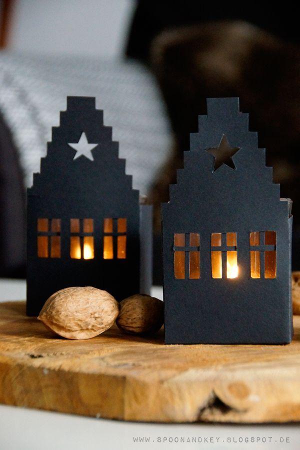 DIY Haus Windlicht mit kostenloser Vorlage zum Download (spoon and key)