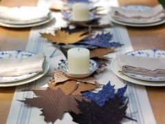 Fall Leaf Thanksgiving Table Decoration Ideas