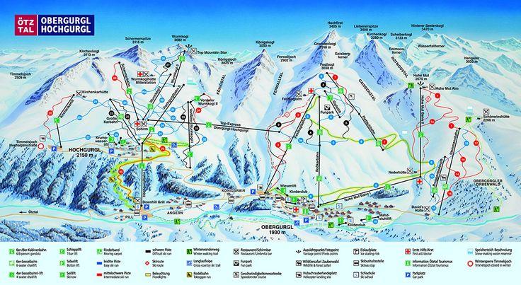 Das Hochgurgl Obergurgl Skigebiet; der verkehrsfreie Wintersportort in den Ötztaler Alpen: www.hikeandbike.de