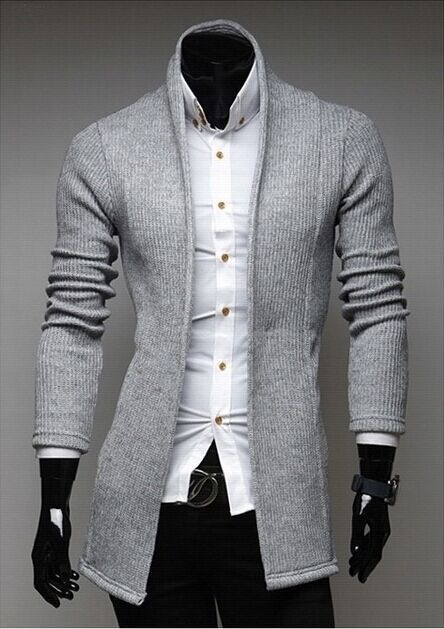 2015 New Men Cardigan Sweater Long Sleeve Wool Mens Casual Autumn Fashion Simple cardigan sweater Men's Slim V-neck M-2XL
