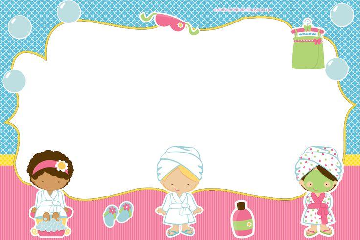 Casinha de Criança: Kit Festa Spa Para Imprimir Grátis