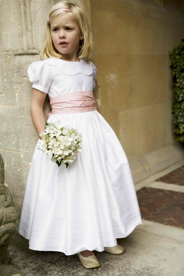 Beautiful vintage-style dresses and separates for weddings and occasions are Little Bevan's forte. This delightful white gown in silk dupion is perfect for young flower girls and can easily be accessorised to match the bridal theme. Little Bevan also offers a bespoke design service from its Pimlico atelier.