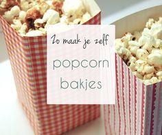 DIY: zelf popcorn bakjes maken