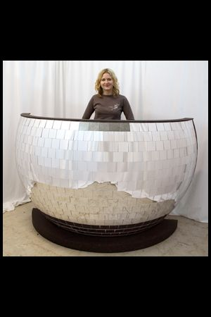 DJ Booth - Giant Mirrorball
